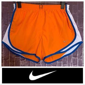 """Tempo"" Running Shorts in Orange/Royal Blue"
